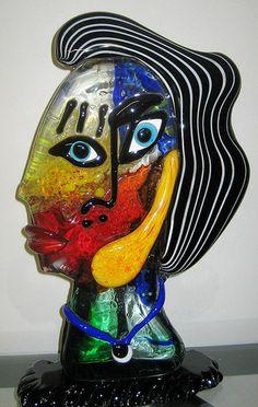 Murano. Sculpture in multicolored heavy glass.