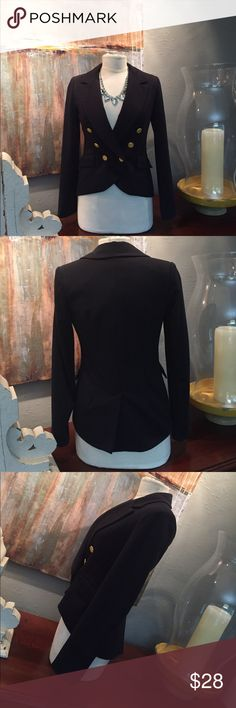 Classic Blue Blazer Nordstrom-Willow&Clay.   Lined, double breasted, dry clean.  Pair with heels or boots tee, tank or crisp white blouse and statement necklace. Willow & Clay Jackets & Coats Blazers