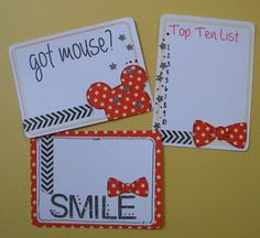 Got Mouse Mickey Disney Vacation Project Life Cards by FandHMom, $2.00