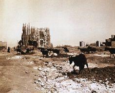 世界遺産 1915年当時のサグラダ・ファミリア アントニ・ガウディの作品群の絶景写真画像  スペイン
