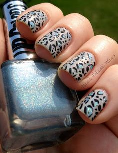 leopardd nailss