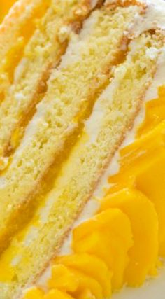 Mango Cake ~ Bursting with fresh mango flavor... It has surprisingly simple ingredients (ONLY 9 TOTAL!) but it is a show stopper – and truly tastes as good as it looks.