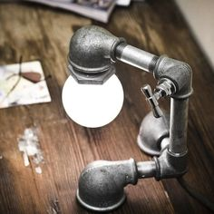 Kozo lamp. Use the faucet to turn the light on and off.  :)