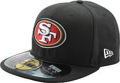 NEW ERA Men's San Francisco 49ers Official On Field 59FIFTY Fitted Black Cap #giftofsport