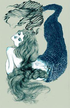 catvho: old souls - - loving the line quality Tarot, Wars Of The Roses, Mermaid Art, Mermaid Paintings, Underwater Creatures, Celtic Tree, Mermaids And Mermen, Merfolk, Old Soul