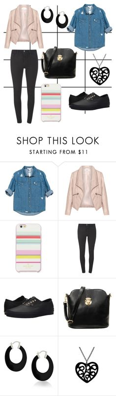 """Spring Look No. 28"" by triplej614 ❤ liked on Polyvore featuring Sans Souci, Zizzi, Kate Spade, Levi's, Vans and Bling Jewelry"