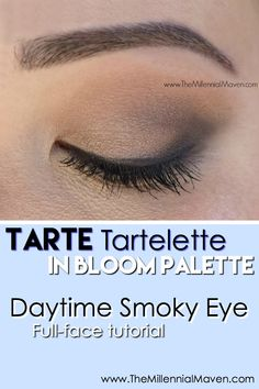 Daytime smoky eye tutorial using the Tarte Tartelette In Bloom Palette. Use the palette to its fullest potential & grab inspiration for your next look! Tarte In Bloom Palette, Tartelette In Bloom Palette, Tarte Eyeshadow Palette, Eyeshadow For Blue Eyes, Blending Eyeshadow, Natural Eyeshadow, Eyeshadow Looks, Eyeshadows, Easy Eyeshadow