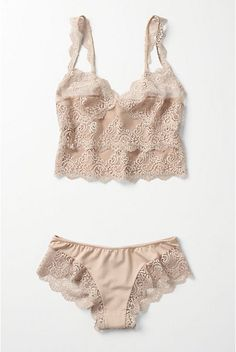 Great to sleep in. Especially during the summer. akt Anthropologie's Creme Brulee camisole & panty set