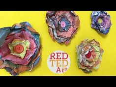 Easy Newspaper Flowers DIY - Red Ted Art's Blog
