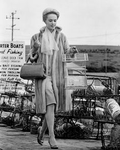 I don't always rent a rowboat, but when I do, I'm wearing a full length mink coat. Tippi Hedren - 'The Birds'  - 1963