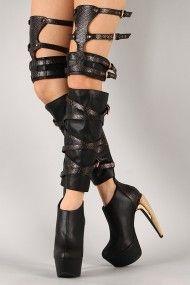 Privileged Siri Snake Gladiator Thigh High Boot.....**Ahhmazing foot, leg, and thigh candy! #urbanog