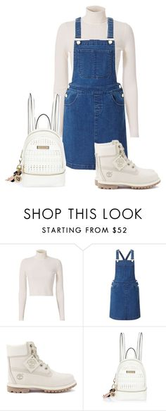 """Untitled #1760"" by cardigurl ❤ liked on Polyvore featuring A.L.C., Miss Selfridge, Timberland, River Island and Judith Leiber"