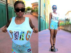 Blanche Bettina K. - ONE PAIR OF SANDALS, THREE LOOKS: WITH THE SWAG -SHIRT