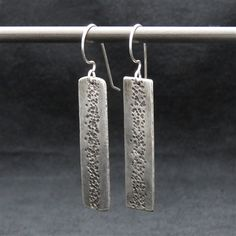 'Sky High' Sterling Silver Earrings The texture and patina that I have given these earrings creates depth and a 'Sky High' feeling that otherwise wouldn't be there. www.vivantedesigns.com
