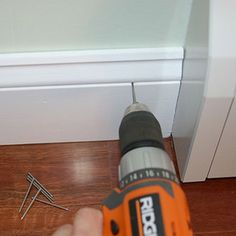 For a quick and accurate pilot, snip the head off a finishing nail and chuck your drill around it. Pilot hole is the exact size needed.