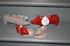 MAILEG Schweinchen Holz Schwein Weihnachtsdeko
