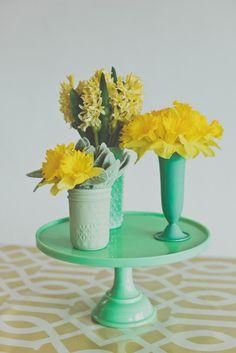 Lemon and mint #mint #lemon #wedding #centerpieces