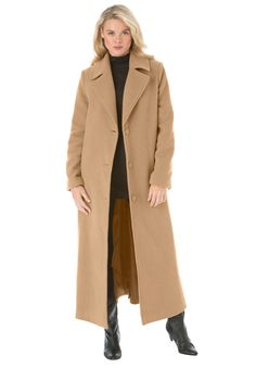Ultra soft sherpa lining makes this plus size coat a must-have for