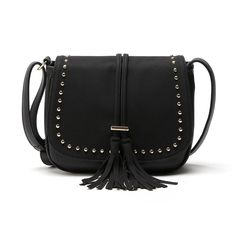 Casual Women Crossbody Bags with Tassel Studded 4137