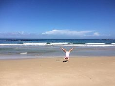 Fun in the sun on Langebaan beach. #capetownvolunteer #ctrci - cartwheel credit Jaz