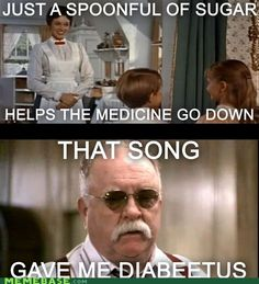 Just a Spoonful of Sugar Makes the Diabeetus Go Up