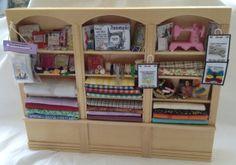 DOLLS HOUSE MINIATURES - Pine Triple Sewing Shelf unit