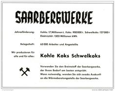 Original-Werbung/ Anzeige 1957 - SAARBERGEWERKE - SAARBRÜCKEN - ca. 160 X 125  mm