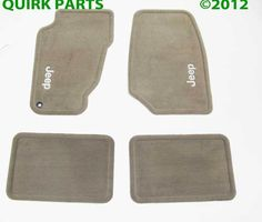 1999-2004 Jeep Grand Cherokee Carpet Floor Mats Set Sandstone MOPAR GENUINE OEM #Mopar