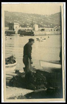 IL PESCATORE ALLE RETI (F19)MESTIERI-MARE-VECCHIA FOTO D EPOCA/OLD PHOTO-ANNI 30