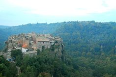 Calcata, Italy.  Medieval town/artist colony