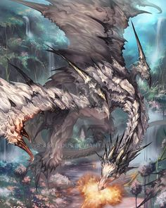 Evolution version of White dragon,more like a giant dragon, In my point,I think basic version is like a chicken...><