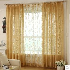 yellow curtains for living room. Hollow deco thick thin tulle yarn voile blind curtains for living room  Top Finel Tropical Leaves Print Sheer Curtains Living Room
