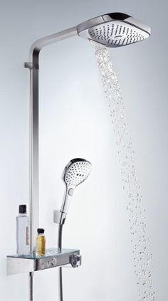 Hansgrohe Raindance Select E 300 ShowerTablet Showerpipe chrom - 27127000 Phoenix Design, Luxury Bathrooms, Steam Showers, Rain Shower, Plumbing, New Homes, Interior, House, Furniture