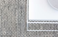 White and gray Linie Design carpet