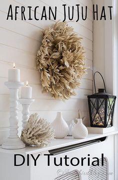 African juju feather hat DIY tutorial www.songbirdblog.com