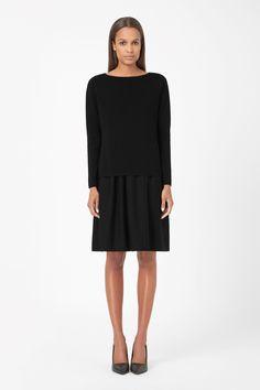 Layered merino dress