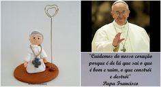 #Papa Francisco em biscuit https://www.facebook.com/pakukahandmade?fref=ts
