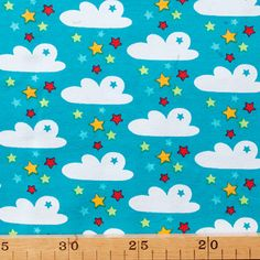 De Stoffige Juffrouw - hippe & retro stoffen, patronen en fournituren online - Mia Maigrun - Wolken en sterren