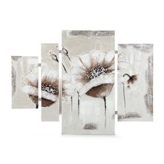 fleurs blanches sur format carr tableau pinterest paintings. Black Bedroom Furniture Sets. Home Design Ideas