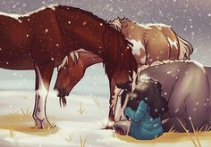 The New Home by newvoh on DeviantArt Fantasy Drawings, Horse Drawings, Cartoon Drawings, Animal Drawings, Art Drawings, Star Stable Horses, Horse Animation, Horse Wallpaper, Horse Artwork