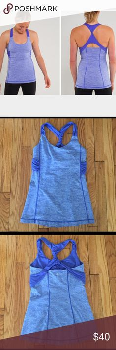 Lululemon Spin Me Tank Medium support & coverage tank with bra adjustability and a twist! Made with super soft stretch luxtreme - lightweight, inherent wicking performance to keep you dry and comfortable. Wide mesh straps are wicking and quick drying, with an anti-stink Chitosan finish. Mid-length, body skimming fit follows your curves but doesn't ride up. Meshed shelf bra comes with ability to add removable cups. Pretty sure it's a 6, but might be a 4 (tags removed) and I'm in between…