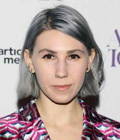 Zosia Mamet just gave us total gray hair goals.
