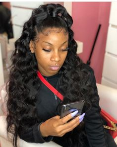 163 Best Half Up Half Down Images In 2019 Weave Hairstyles