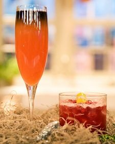 Bloody Scary 4 ounces prosecco  1 ounce freshly squeezed blood orange juice  1/2 ounce Campari  1/2 ounce Simple Syrup  1 ounce Blavod Black vodka, chilled