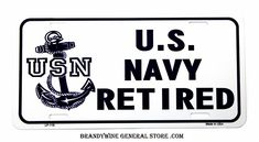US Navy Retired Novelty License Plate