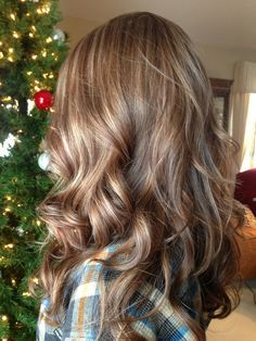 Blond highlights with caramel lowlights.