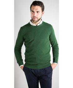 Maglioncino uomo in lana e cashmere dalla vestibilità comoda con toppe in Tartan disponibile in diversi colori - William