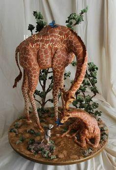 Art2eat cakes.. Giraffes