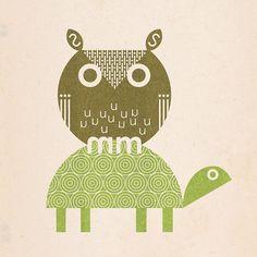 """owl and turtle"" Scott Partridge"
