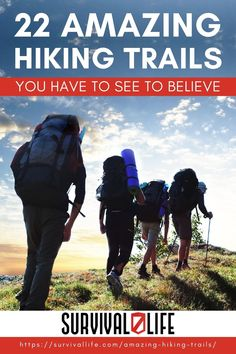Looking for hiking trails to explore? Here are a few of the world's best hikes sure to take your breath away! #survivallife #survival #preparedness #survivalist #prepper #camping #outdoors #spring #outdoorsurvival #hiking #hikingtrails Survival Life, Survival Prepping, Emergency Preparedness, Survival Skills, Camping Outdoors, Tent Camping, Camping Gear, Go Hiking, Hiking Trails